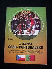 ORIG. prg WM cualificación 06.10.1989 kucera-Portugal!!! Muy raras
