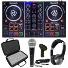 Numark Party Mix DJ Controller w/ Built In Light Show+Case+Headphones+Microphone