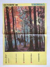 Tintin - Poster Thorgal Octobre 1987 Supplément Journal - BD - HERGE - ROSINSKI