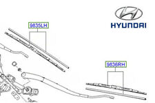 Genuine Hyundai i10 Front Wiper Blade Driver Side - 983500X900