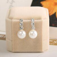 hot moda nuova elegante le donne orecchino orecchini di perla strass