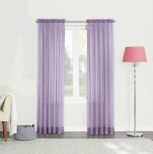 84-Inch Sheer Rod Pocket Window Curtain Panel in Lavender