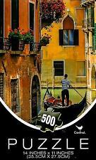 "Jigsaw Puzzle 500pc Venice Italy Gondola Boat Ride Brian Jannsen 14X11""NEW #TY13"