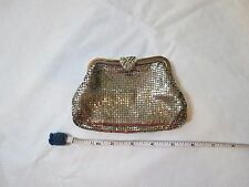mesh Whiting & Davis bags change purse vintage silver 2919 coin USA jeweled RARE