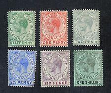Ckstamps: Gb Stamps Collection Gibraltar Scott#66-71 Mint H Og