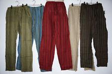 Mens Pants Stripped patch cotton hippy yoga Comfy Unisex Summer hippie