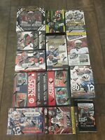 Lot of 7 Unopened Football Packs 2000-2020 Possible Brady, Brees, Lamar, Mahomes