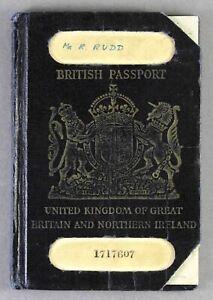 BRITISH PASSPORT 1950 BOAC AIRLINE PILOT REVENUE ENTRY STAMPS LEBANON PAKISTAN