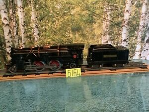 Lionel Prewar #392E 4-4-2 Black Standard Gauge and Tender Lionel Lines