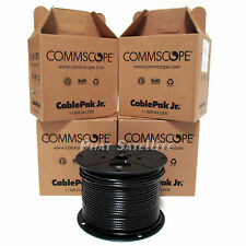 CommScope 2000' RG6 Coaxial Cable Satellite Black 4x 500' 500ft DirecTV DISH FT