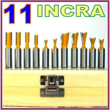 "11 pc 1/2"" Shank Dovetail and Straight Router Bit Set  For INCRA Jig   sct-888"