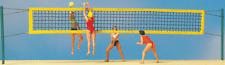 HO Preiser 10528 Beach Volleyball (4) Figures & Net ( 1:87 scale )
