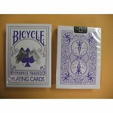 Rare Bicycle PURPLE TRACE Deck Playing Cards Magic Outline angel devil good evil
