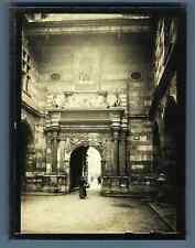 France, Toulouse, Porte intérieure du Capitole  Vintage silver print. Haute Garo