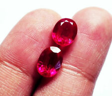 Loose Gemstone Certified Natural Ruby 3 & 5 Ct Pairs Oval Shape eBay