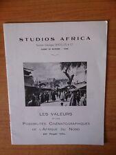 STUDIOS AFRICA : LES VALEURS ET LES POSSIBILITES CINEMATOGRAPHIQUES DE
