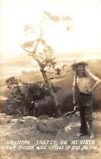 RPPC GRANDPA SNAZZY Mt. Vista Van Buren, AR Bob Burns Hillbilly Postcard c1930s