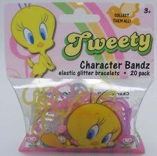 Character Bandz Tweety Elastic Glitter Bracelets 20 Pack