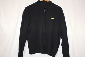 THE MASTERS COLLECTION 100% Cotton Black Full Zip Mock Sweater Womens M-B115