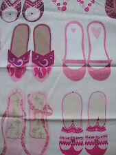 95cm Harlequin Twinkle Toes cotton curtain fabric remnant - gorgeous shoes