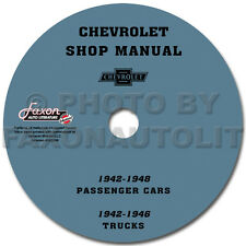 Chevy Shop Manual CD 1942 1946 1947 1948 Car and 42-46 Truck Service Chevrolet