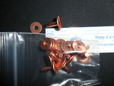 #9  X 1/2  INCH LONG SOLID COPPER RIVETS AND BURRS (WASHER) PACK OF 10 SETS