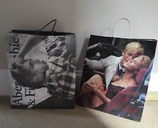 Abercrombie and Fitch Iconic Merry Christmas Heidi Carrier Bag + AF C Bag(empty)