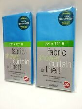 2 NEW Shower Curtain Or Liners 72×72 Mold Resistant 100% Waterproof