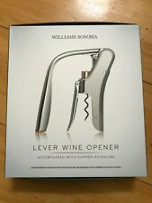 New listing New! Williams Sonoma Lever Wine Opener Stainless Steel With Copper Detailing