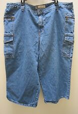 Faded Glory Capris Womens Plus Size 26W Blue Jeans Denim Cropped Pants