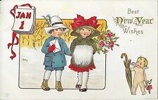 "Vintage Postcard ""Best New Years Wishes"" James E Pitts, Series 56A"