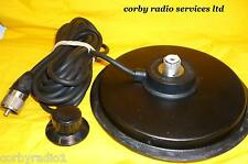 "6"" NERA SUPPORTO MAGNETICO SO259 ANTENNA BASE con PL259 RADIO CB RESISTENTE MAG"