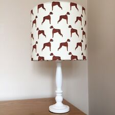 Boxer Dog Print Fabric Lamp