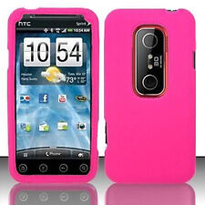 Rose Pink Rubberized Hard Case Phone Cover HTC EVO 3d