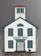"Cat's Meow Village Rt Series 5 ""Police Dept"" Mackinac Mi, New/Value $18/ NonPine"