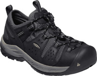 Men's KEEN Utility Atlanta Cool II Steel Toe Work Shoe Black/Dark Shadow Leather