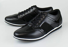 NIB. VERSACE COLLECTION Black Leather Fashion Sneakers Shoes 11 US 44 EU $495