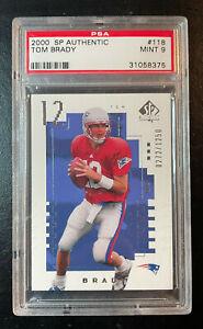 2000 SP Authentic #118 Tom Brady PSA 9 MINT Rookie. Patriots / Bucs.  #272/1250