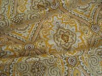 "One yd Raymond Waites MILL CREEK Paisley Drapery FABRIC Orange 54"" x 36"" BTY"