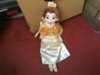 "DISNEY PRINCESS 19"" WINTER BELLE SOFT TOY DOLL PLUSH NEW TAGS"