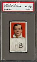 Rare 1909-11 T206 Steamer Flanagan Cycle Buffalo PSA 4.5 VG-EX+ Population 1