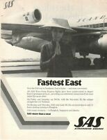 1974 Original Advertising' SAS Scandinavian Airlines System Company Fastes