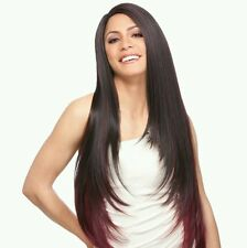 Iman | D Brown | L-part | Long Straight Synthetic Lace Front Wig | Sensationnel