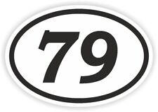 79 setenta y nueve número Oval Pegatina Parachoques Calcomanía Motocross Motocicleta AUFKLEBER