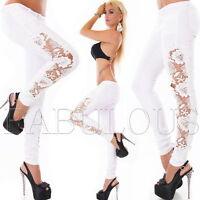 New Sexy Pants Jeans Style Size 10 12 14 2 4 6 8 XS S M L XL Crochet Lace