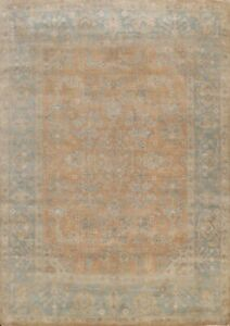 Antique Style Oushak Muted Geometric Oriental Area Rug Wool Hand-knotted 8x10