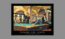 GAME OF FATE Legends Billiards Pool Game POSTER Elvis James Dean Marilyn Monroe+