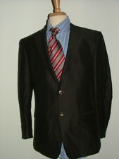 MENS ERMENEGILDO ZEGNA BLAZER SIZE 42 R LINEN SILK BROWN BLACK STRIPED #110
