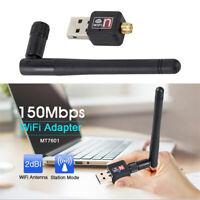 Mini USB Wi-fi 150 Mbps 2dB Dongle Receiver 802.11b/n/g Wireless Network Card RX