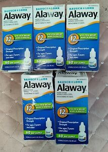 $4.75 each FIVE 10mL Alaway Eye Itch Relief Drops - 0.34 Fl. oz Exp 3/2022+